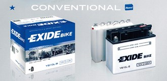 Bateria estandar para motocicletas EXIDE