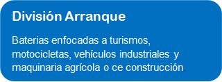 TUDOR. DIVISION BATERIAS DE ARRANQUE